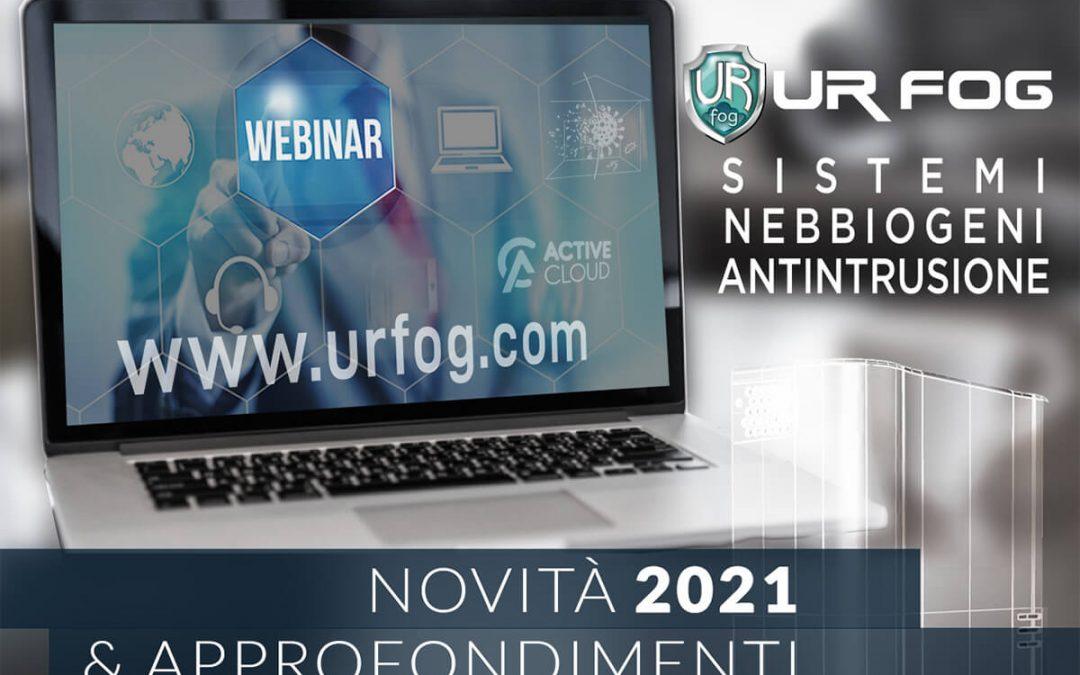 Webinar Ur Fog 2021 per installatori e addetti del settore sicurezza