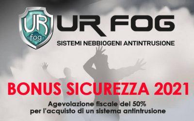 Bonus SICUREZZA 2021 – Agevolazione fiscale del 50% per l'acquisto di un sistema antintrusione o antifurto